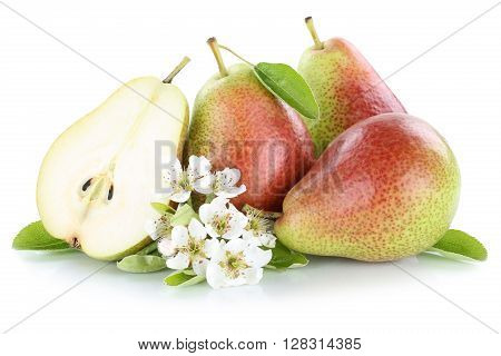 Pears Pear Slice Fruit Fruits Isolated On White
