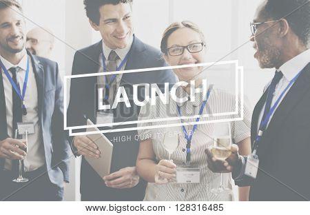 Launch Kick Off Startup Begin Start Concept