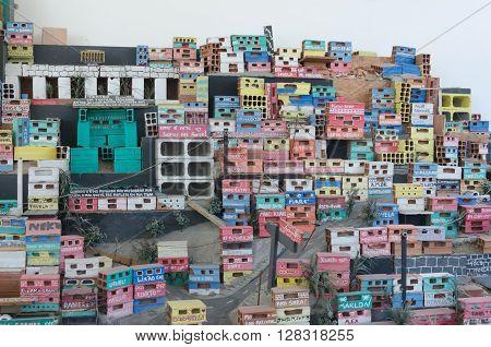 Rio De Janeiro, Brazil - March 06, 2016:  Art Installation, Part Of The Projecto Morrinho Social Pro