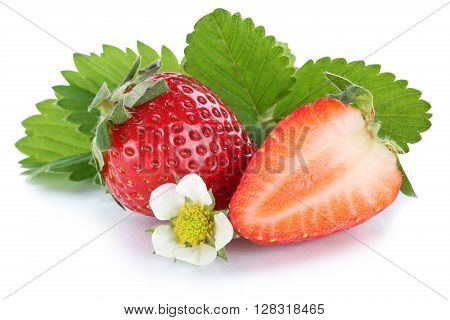 Strawberry Strawberries Fresh Berry Berries Fruit Fruits Isolated On White