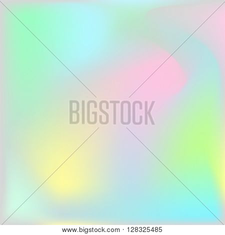 Holographic texture background. Iridescent hologram chatoyant backdrop. Nacreous pearl texture paper. poster