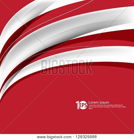 abstract bent lines flat layout corporate design material background. eps10 vector
