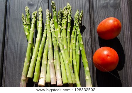 Aspargus and tomatos food raw delicious fresh and natural natural fresh organic food