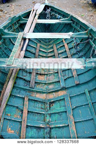 Hull Of A Wooden Boat