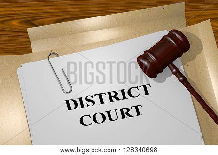 District Court Legal Concept