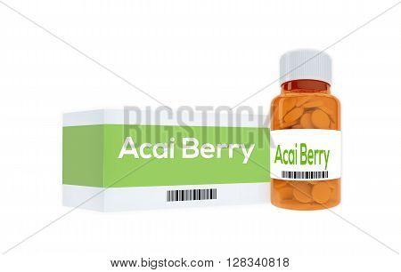 Acai Berry Medication Concept
