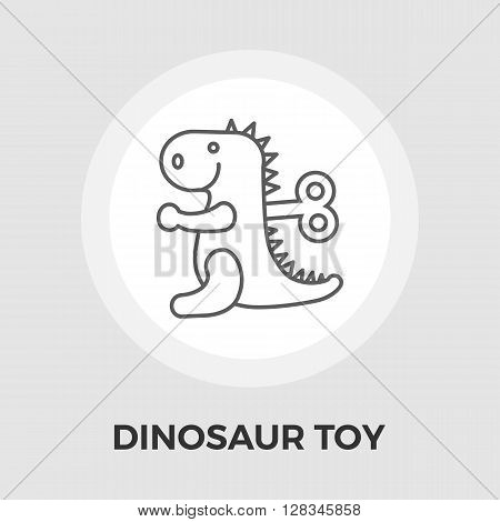 Dinosaurus icon vector. Flat icon isolated on the white background. Editable EPS file. Vector illustration.