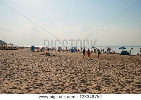 Sandy Beach In Jurmala, Latvia