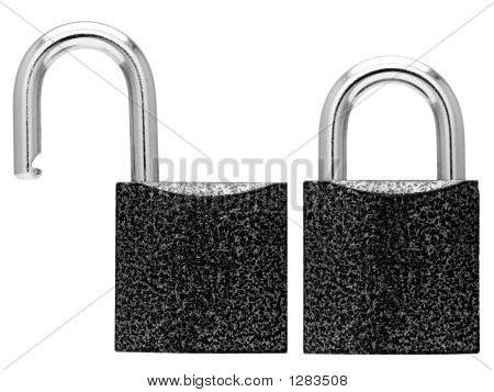 Closed And Opened Lock