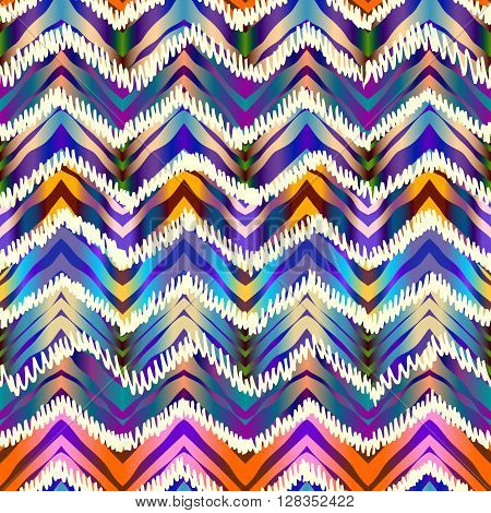 Seamless abstract background pattern. Ethnic chevron pattern. in tie-dye style.