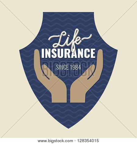 Life insurance logo. Conceptual sign life insurance and property.