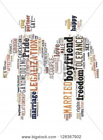 Gay Couple, Word Cloud Concept