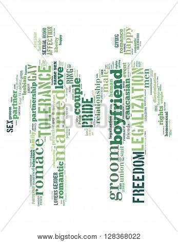 Gay Couple, Word Cloud Concept 5