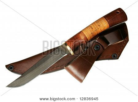 The Hunting Knife With A Sheath