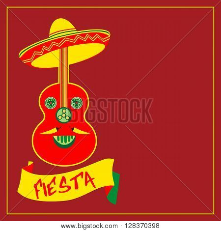 Mexican Fiesta party. Mexican Holiday poster template card invitation promotion. Cinco de mayo festa junina. Idea to advertise fiesta party decoration food menu background. Vector illustration