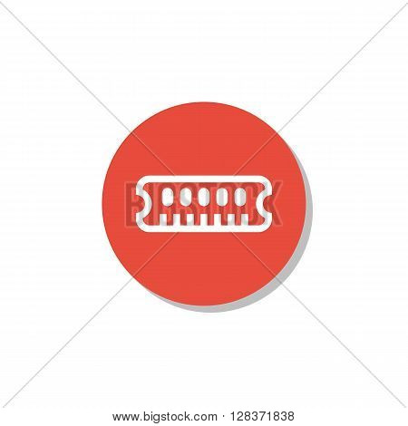 Ram Icon In Vector Format. Premium Quality Ram Symbol. Web Graphic Ram Sign On Red Circle Background