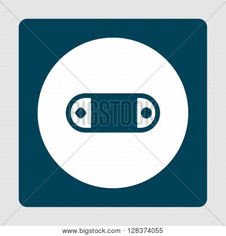 Game Console Icon In Vector Format. Premium Quality Game Console Symbol. Web Graphic Game Console Sign On Blue Background.