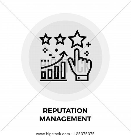 Reputation Management icon vector. Flat icon isolated on the white background. Editable EPS file. Vector illustration.