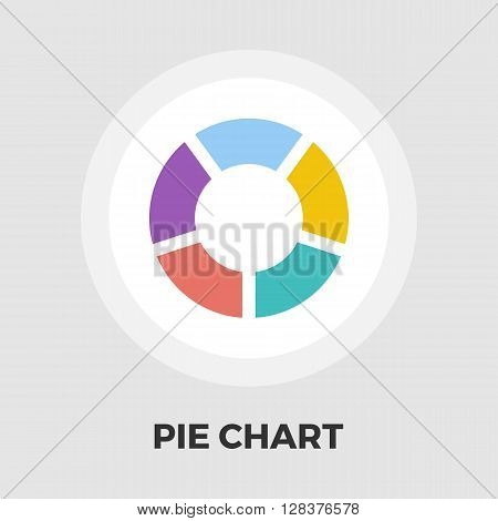 Pie chart icon vector. Flat icon isolated on the white background. Editable EPS file. Vector illustration.