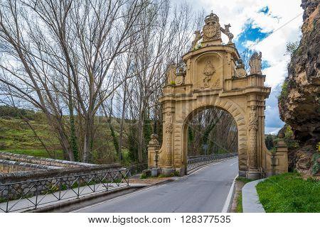 Gate Puerta de la Fuencisla in Segovia Spain
