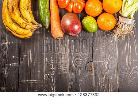 Composition With Assorted Raw Organic Vegetables