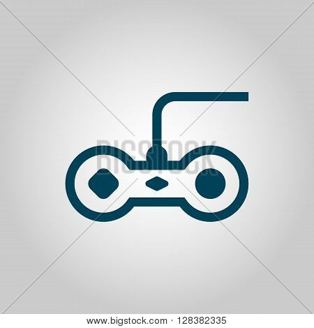 Joystick Icon In Vector Format. Premium Quality Joystick Symbol. Web Graphic Joystick Sign On Grey Background.