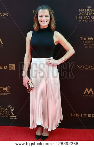 LOS ANGELES - MAY 1:  Melissa Claire Egan at the 43rd Daytime Emmy Awards at the Westin Bonaventure Hotel  on May 1, 2016 in Los Angeles, CA