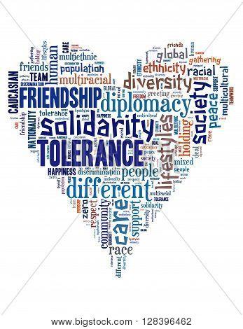 Tolerance Heart Word Cloud 3