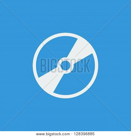Cd Icon In Vector Format. Premium Quality Cd Symbol. Web Graphic Cd Sign On Blue Background.