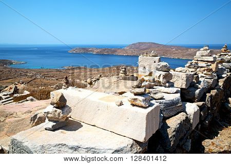 Temple  In Delos  Historycal Acropolis And