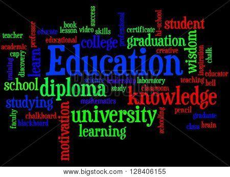 Education, Word Cloud Concept 2