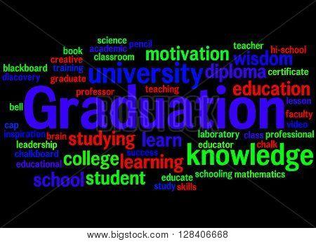 Graduation, Word Cloud Concept 4