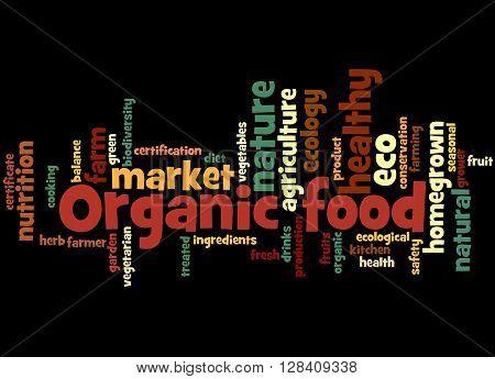 Organic Food, Word Cloud Concept 4