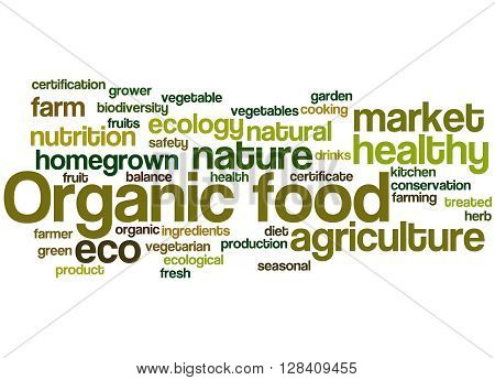 Organic Food, Word Cloud Concept 7