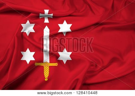 Waving Flag of Haarlem, with beautiful satin background.