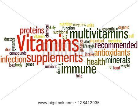 Vitamins, Word Cloud Concept