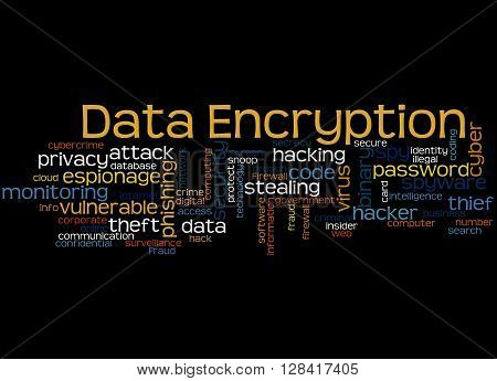 Data Encryption, Word Cloud Concept 8