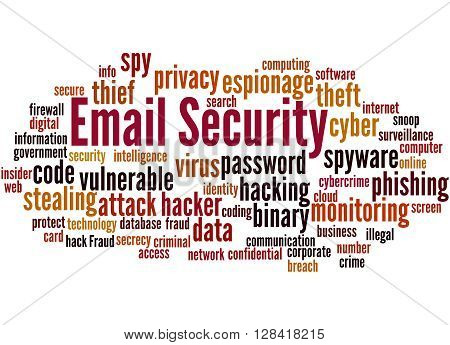 Email Security, Word Cloud Concept