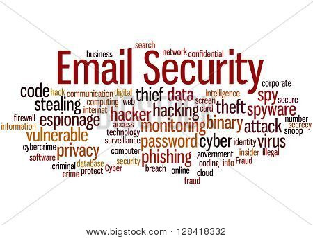 Email Security, Word Cloud Concept 8