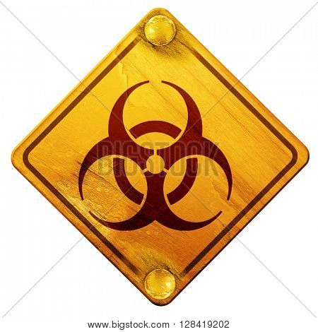 Bio hazard sign on a grunge background, 3D rendering, isolated g