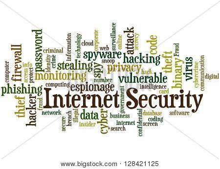 Internet Security, Word Cloud Concept 9