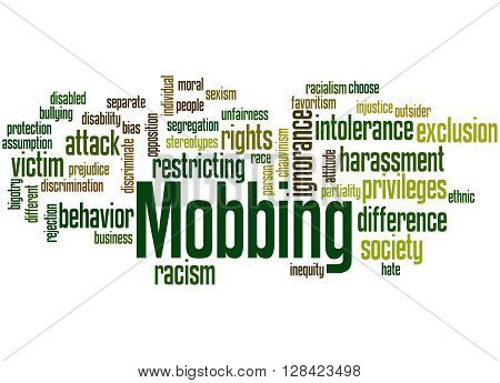 Mobbing, Word Cloud Concept 5