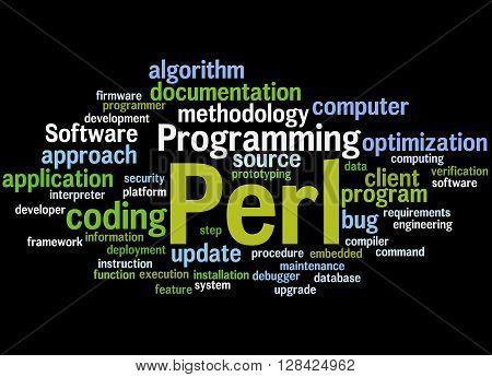 Perl Programming, Word Cloud Concept 7