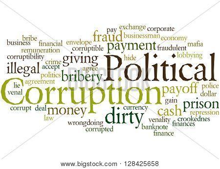 Political Corruption, Word Cloud Concept 6