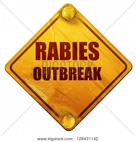 Rabies virus concept background, 3D rendering, isolated grunge y