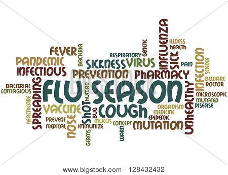 Flu Season, Word Cloud Concept 7