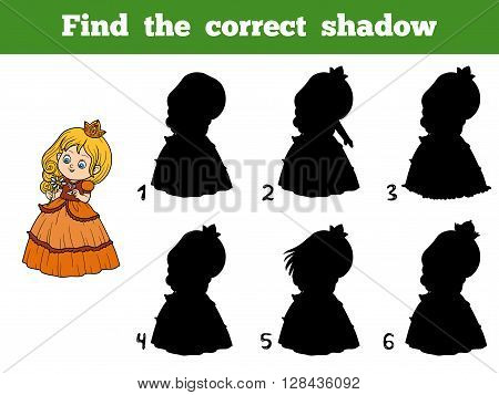 Find The Correct Shadow, Little Princess With A Flower