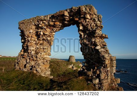 Left over ruin looking over towards a dovecote