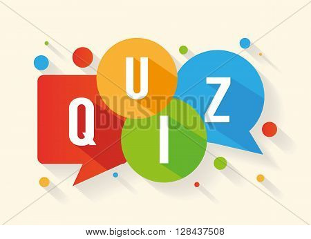 Quiz - vector illustration isolated on background