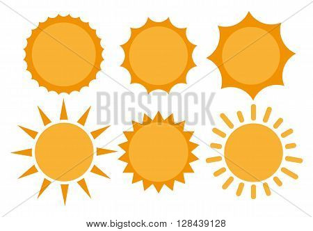 Sun Sun Icon. Sun Icon Vector. Sun flat icon vector illustration